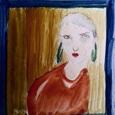 Helin/ Watercolor portrait.