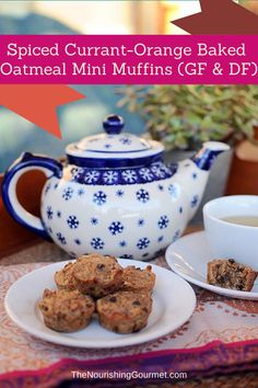 Recipe: Spiced Currant Orange Baked Oatmeal Mini Muffins (Dairy Free & Gluten Free w/ Egg Free Option) - These are perfect to go with tea or coffee, breakfast, or to serve as a snack!