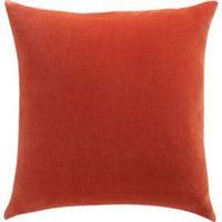 "CB2 - July Catalog - Leisure Burnt Orange 23"" Pillow With Down-alternative Insert"