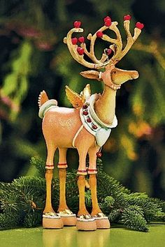 Cupid, another reindeer in the series by Patience Brewster