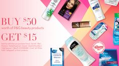 P&G Rebate Available Again! Spend $50 and get $15 Visa Gift Card!