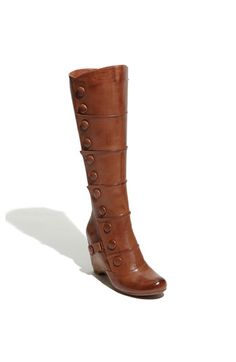 Miz Mooz Siri Brown leather boot. obsessed with the button detail $239