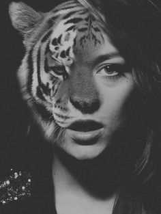 half woman half on Pinterest | Tigers, Positive Feedback and Wolf ...