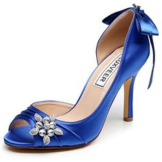 Sexy Wedding  Peep Toe with Bowknot and Broo...
