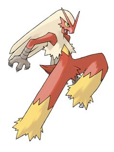 Blaziken: his design makes him look ready for battle which appeals to a different demographic to characters such as Pikachu who have cute appeal.