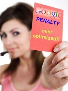 Google Penguin Update and the Over-Optimization Penalty