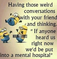 We all NEED at least one friend to be completely stupid with! #friends #minions