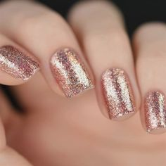 Here's a full swatch of Juliette from the 2015 Winter Collection. Juliette is a new ROSE GOLD Precious Metals nail polish that I almost have no words for. (There is NO glitter or microglitter in this polish!) It's so overwhelmingly beaut Love Nails, Pretty Nails, My Nails, Winter Wedding Nails, Winter Nails, Gold Wedding Nails, Maroon Wedding, Glitter Wedding, Fall Nails