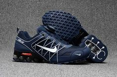 2018.5 Nike Air Max Hot Run Shoes Navy White For Men