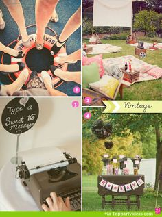 Sweet 16 Party Celebrations - Vintage 16th Birthday Parties