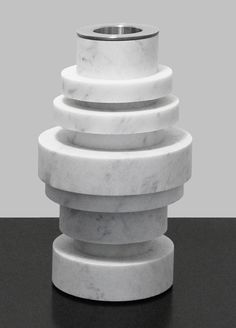 Moreno Ratti's marble vase stacks like a Tower of Hanoi.