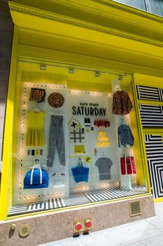 We love this KATE SPADE SATURDAY window display. #retail #merchandising #display