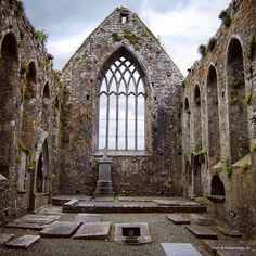 Inside Claregalway Abbey, Co Galway