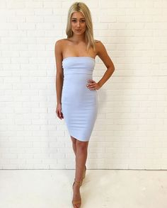 The Kora Dress is now available in light blue in boutiques & online, $70 xx #kookai
