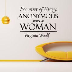 Virginia Woolf Vinyl Wall Art Decal Sticker
