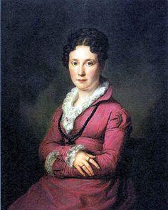 Portrait of Mine Mylius, née Souchay | Friedrich Carl Gröger (1828) gown looks a little earlier?