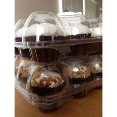 8 Pieces 6 Compartment Cupcake Cake Case Muffin Holder Box Container Carrier Plastic