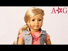 How to Style Tenney's Hair!   Tenney Grant   American Girl - YouTube