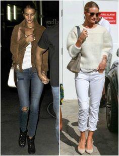 ~10/15 #ロージー・ハンティントン=ホワイトリー #白ニット #白ジーンズ #パンプスの画像 | 海外セレブ最新画像・私服ファッション・着用ブランドチェック Daily…