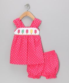 Take a look at this White Polka Dot Popsicle Tank & Shorts - Infant, Toddler & Girl by Shine by Castles & Crowns on #zulily today!