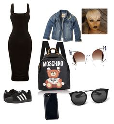 """Untitled #17"" by imani-ciera on Polyvore featuring adidas, Moschino, Hollister Co., Thierry Lasry, Prada and Belkin"