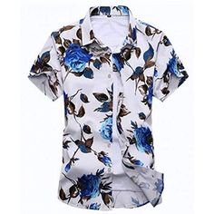Cheap men shirt slim, Buy Quality floral shirt men directly from China shirt slim Suppliers: Hot 2017 Summer New Fashion Mens Shirts Slim Fit Short Sleeve Floral Shirt Men Chemise Homme Mens Casual Flower Shirts Plus Mens Beach Shirts, Cheap Mens Shirts, Mens Shirts Online, Summer Shirts, Casual Shirts For Men, Men Casual, Mens Floral Shirts, New Casual Fashion, Style Casual