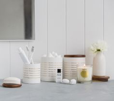 Use these stylish kikki.K Canisters to store stationery essentials in your workspace or even toothbrushes and toiletries in the bathroom. www.kikki-k.com