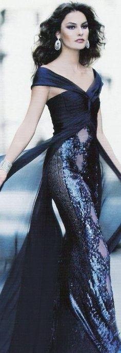 Luxury gown in moody blue... http://www.inews-news.com/women-s-world.html