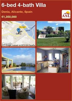 6-bed 4-bath Villa in Denia, Alicante, Spain ►€1,350,000 #PropertyForSaleInSpain