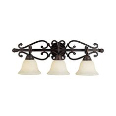 Pyramid Creations Manor 3 Light Oil Rubbed Bronze Bell Vanity Light