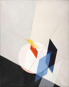 thunderstruck9:  László Moholy-Nagy (Hungarian, 1894-1946), A 18, 1927. Oil on canvas, 95 x 75.5 cm.