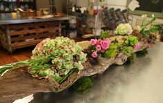 Organic log centerpiece