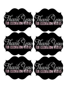 Instant download diy printable thank you tags 15 round modern printable thank you tags negle Gallery