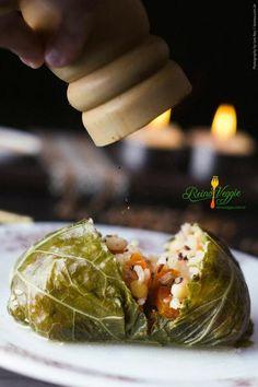 Charuto de couve vegano (mafufo)   Receita