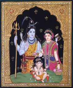 Mughal Paintings, Persian Miniatures, Rajasthani art and other fine Indian paintings for sale at the best value and selection. Mysore Painting, Tanjore Painting, Om Namah Shivaya, Mughal Paintings, Indian Paintings, Nepal, Rajasthani Art, Shiva Statue, Hindu Deities