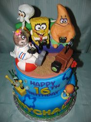 Sponge Bob Cake..totally edible! Characters molded out of chocolate!