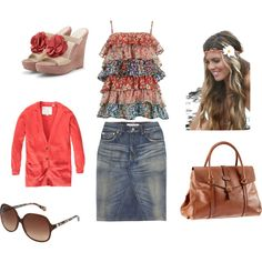 I love the shoes, bag, top, skirt sweater....I could go on and on!!!