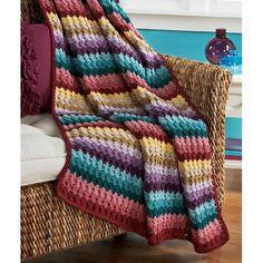 Amazon.com: Herrschners Starlight Throw Crochet Afghan Kit: Arts, Crafts & Sewing