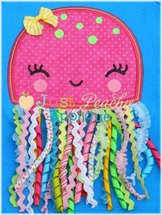 jellyfish quiet book page. great for a baby quiet book Diy Quiet Books, Baby Quiet Book, Felt Quiet Books, Applique Patterns, Applique Designs, Machine Embroidery Designs, Machine Applique, Embroidery Ideas, Baby Crafts
