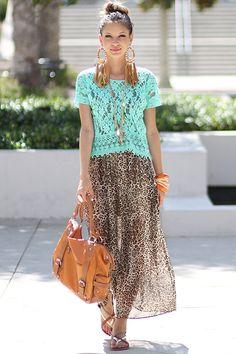 leopard + mint lace <3