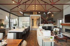 barn homes | ... Barn to Custom Home Barn House Kitchen and Great Room – Malbec Homes