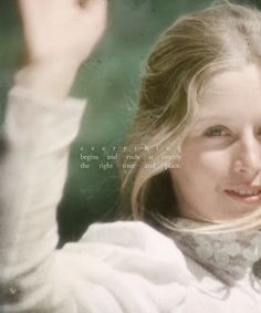 """""""Everything begins and ends at exactly the right time and place."""" ~Picnic at Hanging Rock (1975)"""