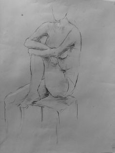 Life drawing charcoal on paper