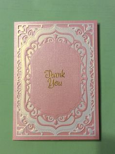 "Spellbinders Elegant Labels 4, Bazzill paper "" in the pink"""