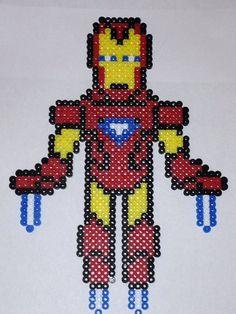 Iron Man magnet perler beads by PerlerDesignsbyKatie
