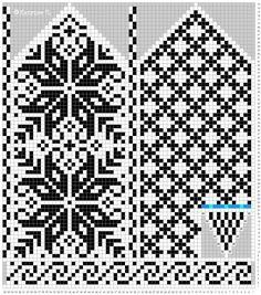 Bilderesultat for strikke diagram Knitting Charts, Knitting Stitches, Hand Knitting, Knitting Patterns Free, Knitted Mittens Pattern, Knit Mittens, Knitted Gloves, Wedding Cross Stitch Patterns, Cross Stitch Designs