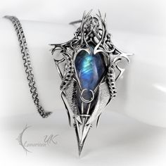 IRGNARTH - silver and moonstone by LUNARIEEN.deviantart.com on @deviantART