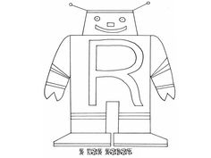 Robot Coloring Pages - Cute Robot | robots and other kids ...