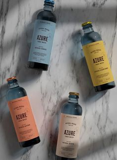 Azure Tonic Water Packaging Design