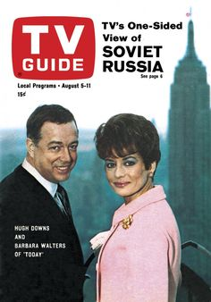 "TV Guide: August 1967 - Hugh Downs and Barbara Walters of ""Today"" Barbara Walters, Pose Reference Photo, Vintage Television, First Tv, News Anchor, Great Memories, Childhood Memories, Old Tv Shows, Tv Guide"